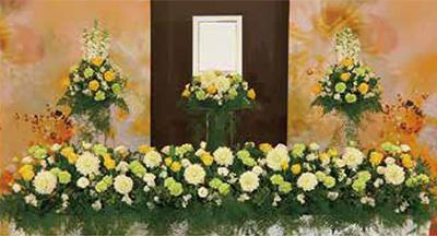 ファミリーホール船橋のアレンジ祭壇、154,000円