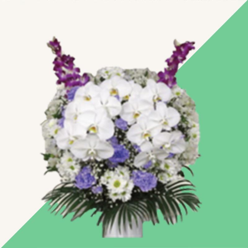 ファミリーホール船橋、供花のご注文・洋花(ムラサキ) 22,000円